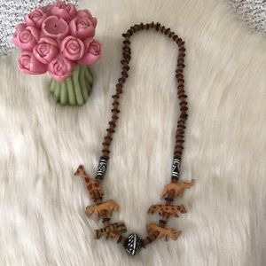 Jewelry - Animals of the Wild ~ Wood Necklace!